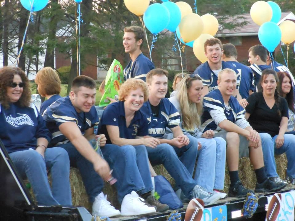 Homecoming parade when my son was a senior at Hopewell