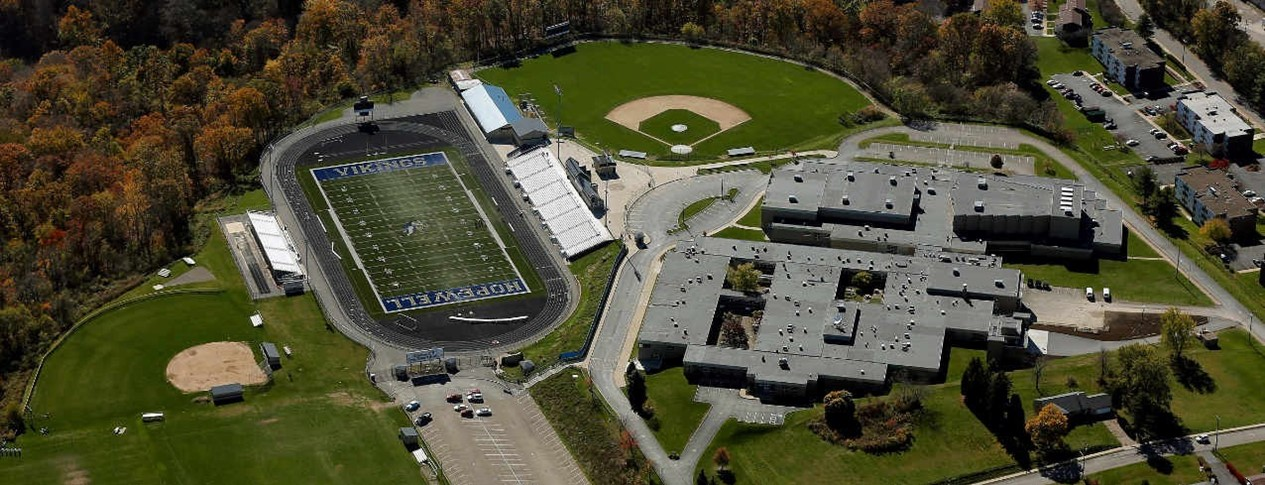 Aerial photo of Hopewell High School