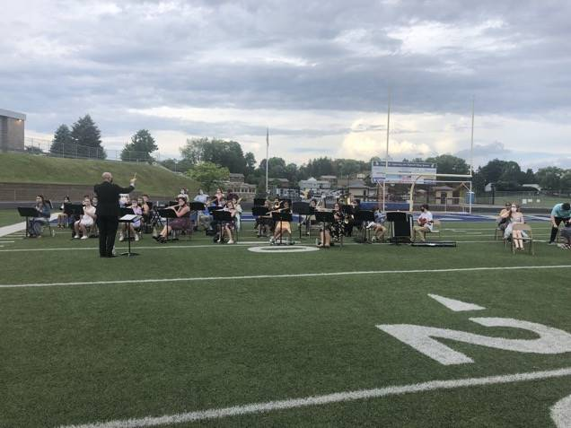 Band Playing for Graduation