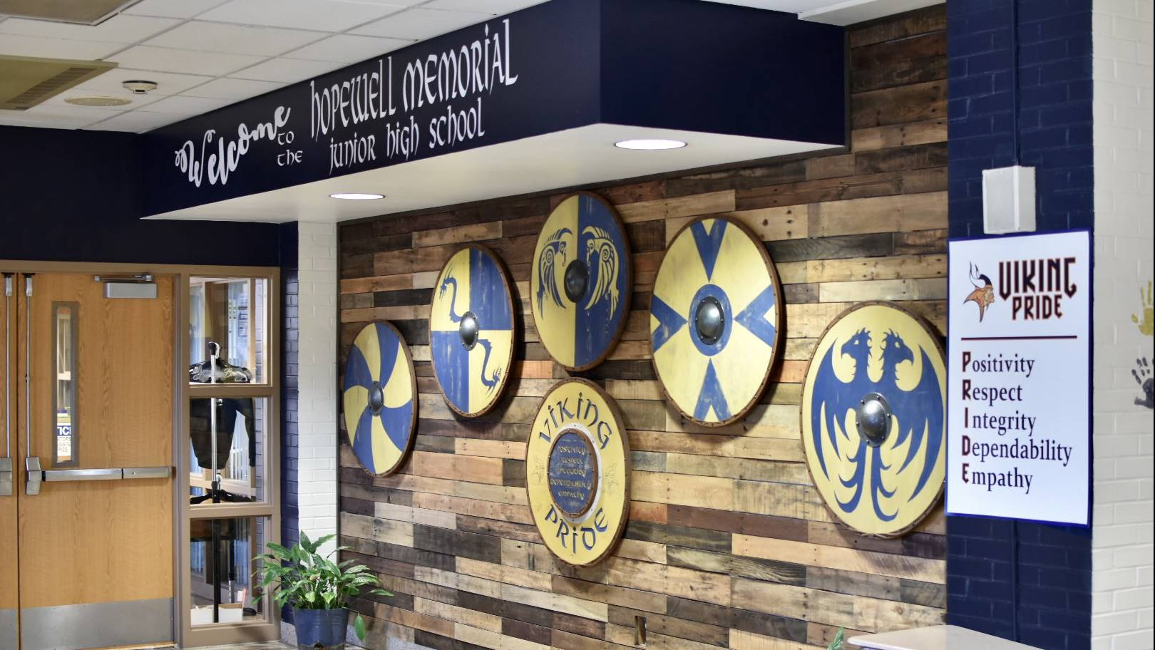 JHS Wall with Viking Shields